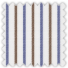Twill, Blue and Khaki Stripes