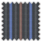 Poplin, Black and Brown Stripes