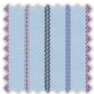 Twill, Blue, Black and Pink Stripes