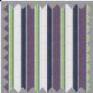 Poplin, Blue, Green and Purple Stripes