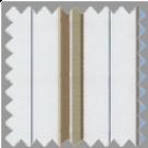 Poplin, Blue, Brown and Khaki Stripes