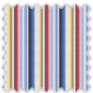 Twill, Blue, Yellow, Black, Red and Brown Stripes