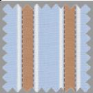Dobby, Blue, Orange and Brown Stripes