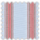 Dobby, Blue, Red and Orange Stripes