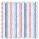 Oxford, Blue, Pink and Red Stripes