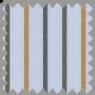 Dobby, Blue, Black and Khaki Stripes