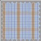 Poplin, Blue and Brown Checks