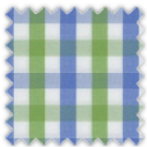 Poplin, Blue and Green Checks
