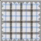 Linen, Blue and Brown Checks