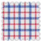 Linen, Blue and Red Checks