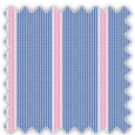 Poplin, Blue and Pink Stripes